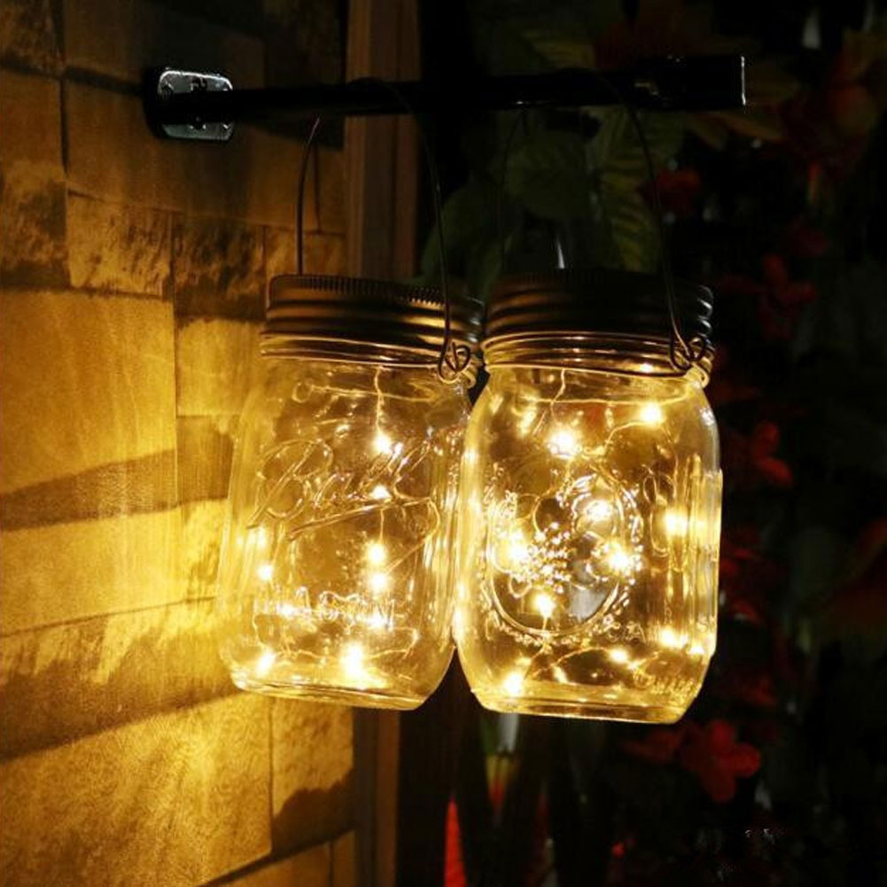 Portable Waterproof 1M/2M LED Solar String Strip Fairy Light Home Garden Party Decor Jar Can Cap Lamp