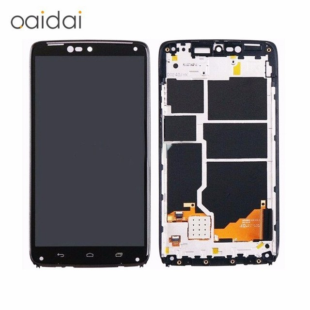 For Moto Droid Turbo XT1254 XT1225 LCD Display Touch Screen Mobile Phone Digitizer Assembly Replacement Parts With Tools