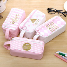 Office Stationery Travel Student Pencil Pen Makeup Cosmetic Toiletry Case Wash Organizer Storage Cartoon Pencil Case D329(China)