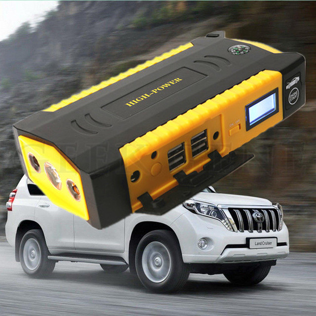 Portable Car Jump Starter Power Bank Emergency Battery Booster compass featurs safety hammer charger phone laptop SOS light