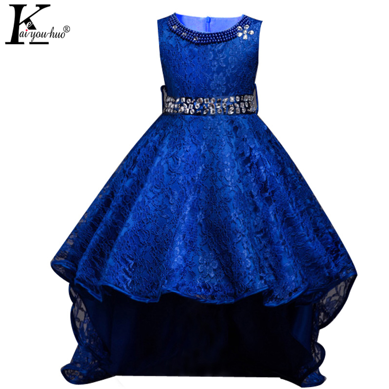 Summer Kids Dresses For Girls Wedding Dress Elegant Sleeveless Girls Clothes Formal Wear Princess Party Toddler Dress Vestidos 2017 new summer toddler kids girls sleeveless t shirt dress children girls elegant lace dresses light blue dress for 3 7y