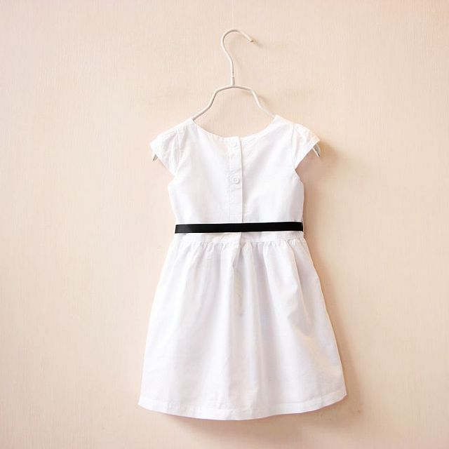Girl Dress With Sashes Robe Fille
