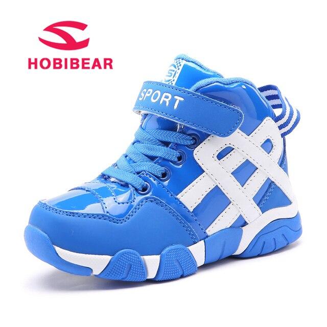 2b921382 HOBIBEAR Zima Chłopcy Sneakers Buty Sportowe Dla Dzieci Pluszowe Dorywczo  Mody Wygodne Wodoodporne Ciepłe Dzieci Buty