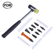 Herramientas PDR herramienta de reparación de abolladuras sin pintura, herramientas de reparación de automóviles, martillo de aluminio, pluma de toque 15 unids/set