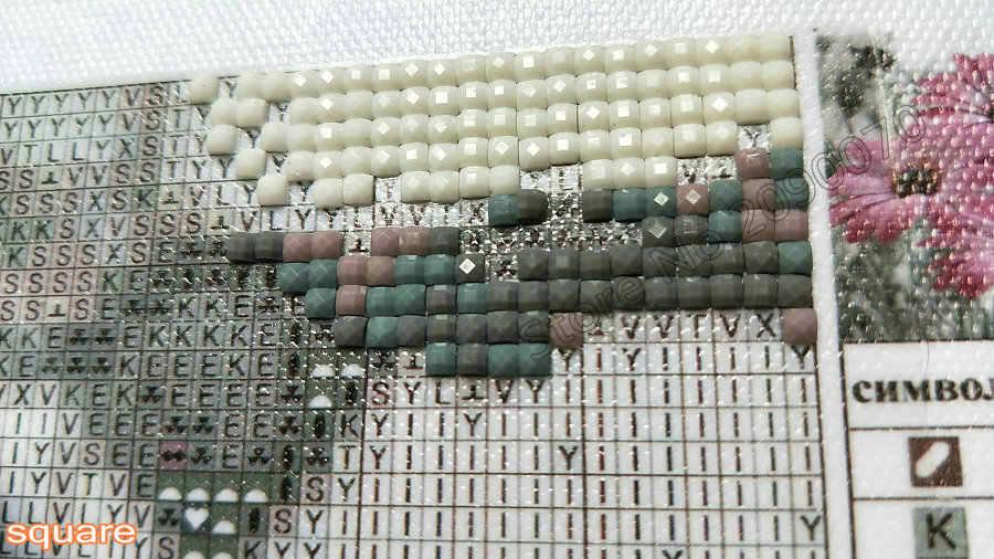 Бриллиантовая Вышивка Узор Лотос 5D DIY Алмазная картина вышивка крестиком пейзаж Кристалл Полный алмаз головоломка Декоративная