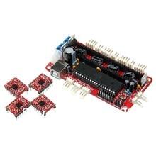 Geeetech 3D Printer Controller Board Sanguinololu Rev 1.3a + 4pcs A4988 stepper driver for Reprap Prusa Mendel Free shipping