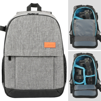 Anti-theft Men Women Photo Camear Shoulders Bag Grey Black Backpack Waterproof with Rain Cover for Canon Nikon Sony DSLR Camera/Video Bags