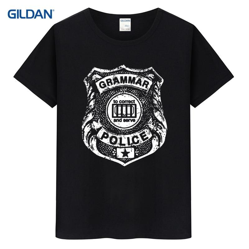 fb39a6335f Grammar Police T Shirt Funny Tee Saying Book Nerd Literary Literature  Reading English Teacher Geek Wo
