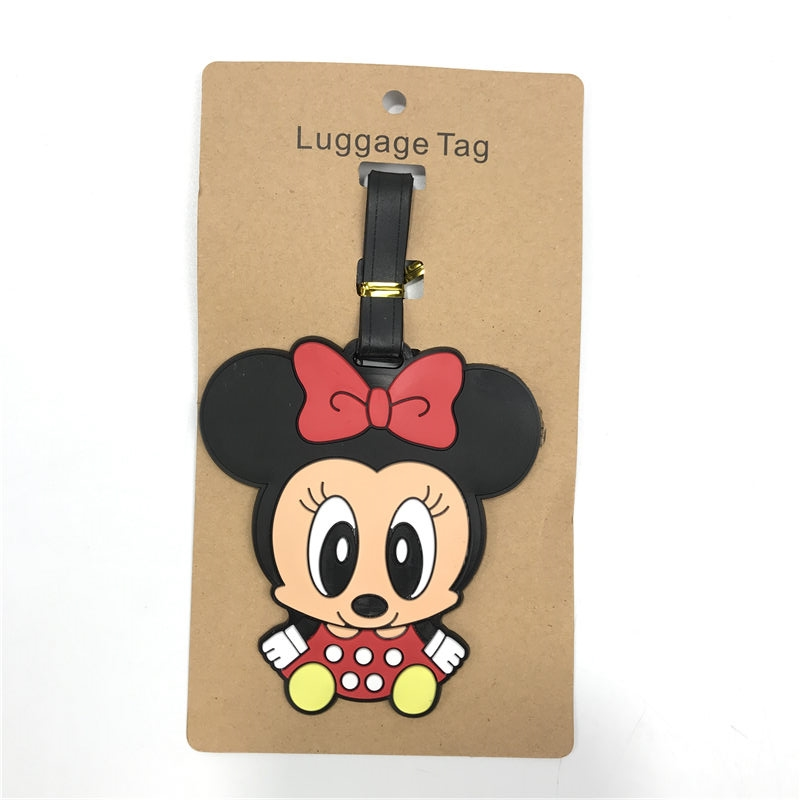 2019 Mala Travel Accessories Luggage Tag For Mickey Cartoon Silica Gel Suitcase Id Address Holder Baggage Boarding