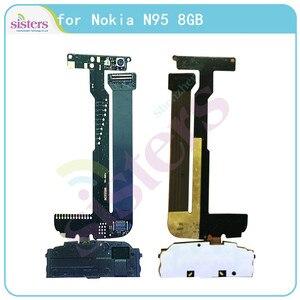 ЖК-разъем гибкий кабель для Nokia N95 ЖК-экран Разъем Flex лента для Nokia N95 телефон запасные части тест 100% рабочий