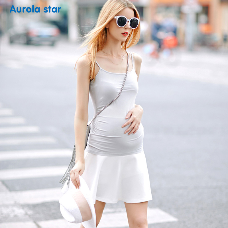 Maternity Camisole Summer Clothes For Women Casual Solid Pregnant Tank Top Cotton Modal Maternity Tank Tops  Aurola Star