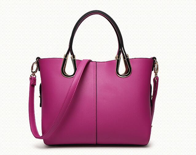 ФОТО ARMELLE 2017 Split Leather Women Shoulder Bags Ladies Large Tote Bag Female Black Pink Handbags Summer Style Composite Bag A052