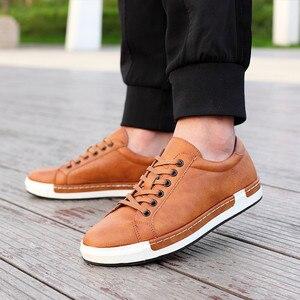 Image 5 - Кроссовки Gentlemans мужские кожаные, роскошные кеды на шнуровке, плоская подошва, повседневная обувь для вождения