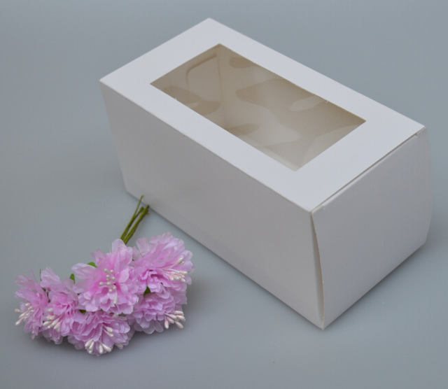 10pcs Box With Window Gift Cardboard Boxes White Color Gift Paper Packaging Boxes Cardboard Jewelry Gift Boxes