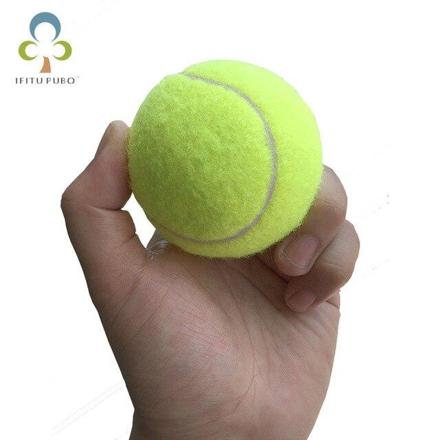 2 pçs/lote 6.3 centímetros Bolas De Tênis Para Iniciantes ou Trainning Esporte Diversão Ao Ar Livre do animal de Estimação Brinquedos Do Cão Bola de Tênis GYH