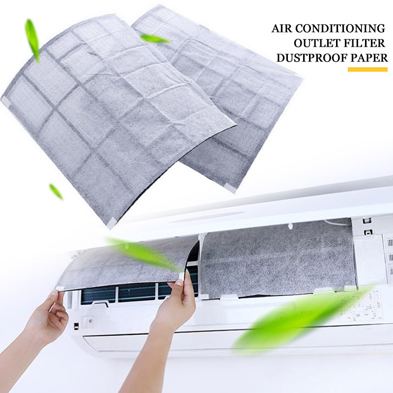 2/10Pcs Anti-dust Net Air Conditioner Filter Papers Dustproof Cleaning Purification Air Self-adhesion Air Purifier Dust Filter