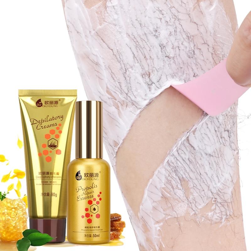 Depilatory Creams Permanent Hair Removal Cream Combination Set Armpit Hair Legs Armpits Vagina -4807