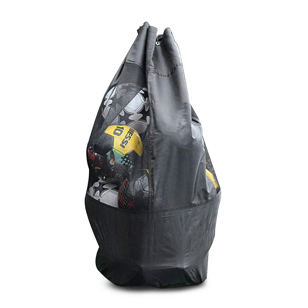 Large Capacity Breathable Mash Drawstring Pack For Football Soccer Ball Volleyball Basketball Outdoor Sports Equipment Bag