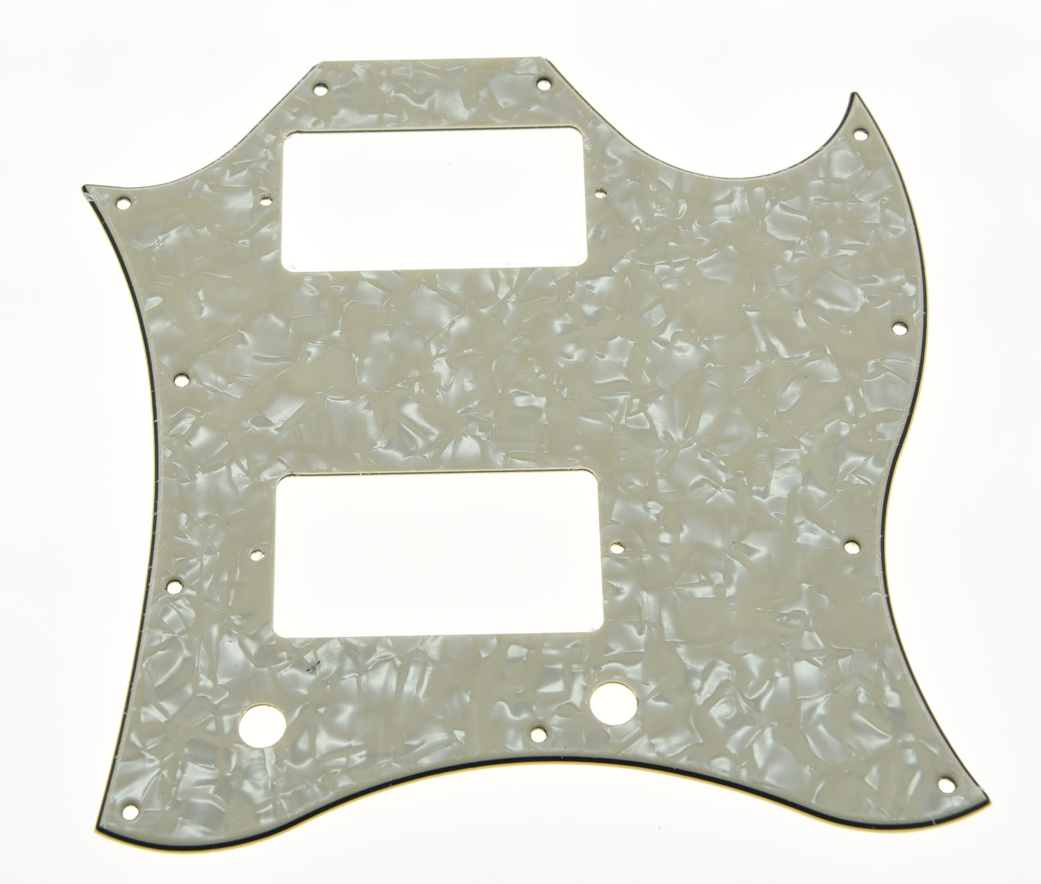 KAISH SG Standard Full Face Guitar Pickguard Scratch Plate Aged Pearl 3 Ply w/ Screws kaish various colors st style hss guitar pickguard scratch plate trem cover screws