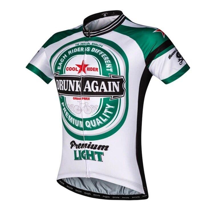 Prix pour 2016 nouveau hommes de chaque coureur est différents vélo jersey vert blanc vélo jersey chemise unique usure de circonscription