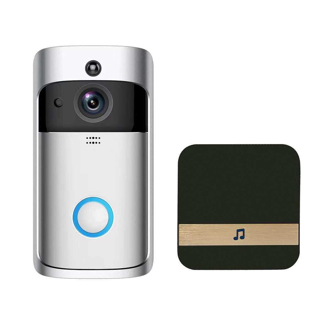 Wireless WIFI Door Bell IR-CUT Night Vision PIR Motion Detection Home Security Alarm Two-way Audio Doorbell with ReceiverWireless WIFI Door Bell IR-CUT Night Vision PIR Motion Detection Home Security Alarm Two-way Audio Doorbell with Receiver