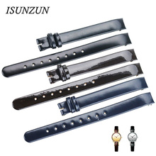 ISUNZUN Women Watch Band For CK K4323209/K4323216/K4323100 Genuine Leather Watchband Christmas Gift 10MM Watch Strap For CK ck watch strap