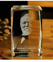 BEST Christmas birthday present Andrew Carnegie limited edition TOP Decor art 3D Crystal Image Decoration