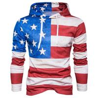 High Sales Mens American Flag Print Hoodie Hooded Sweatshirt Tops Jacket Coat Outwear Fatos De Treino