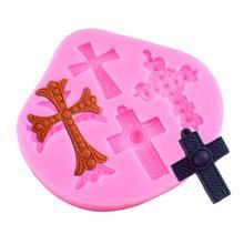 Creative Cross Shaped Silicone Mold Cake Decoration Fondant Cake 3D Food Grade Silicone Mould Cookies Tool FA5-13L