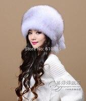 Women Men Winter Plus Size Bombers Mink Fur Hat Female Winter Fur Hat Mink Skin Hat Mink Fur Hat