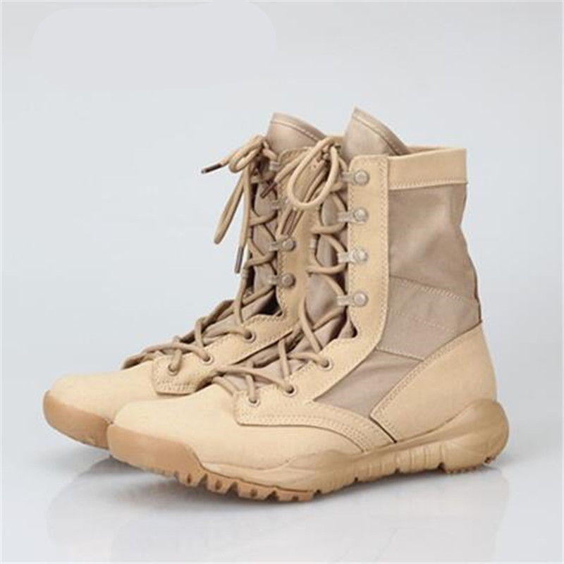 Men Ultra Light Boots Men's Tactical Boots Summer Spring Breathable Army Boots Outdoor Shoes Men Combat Assault Boots the most light combat boots single ultra light ultra fiber super breathable size38 45 ao3
