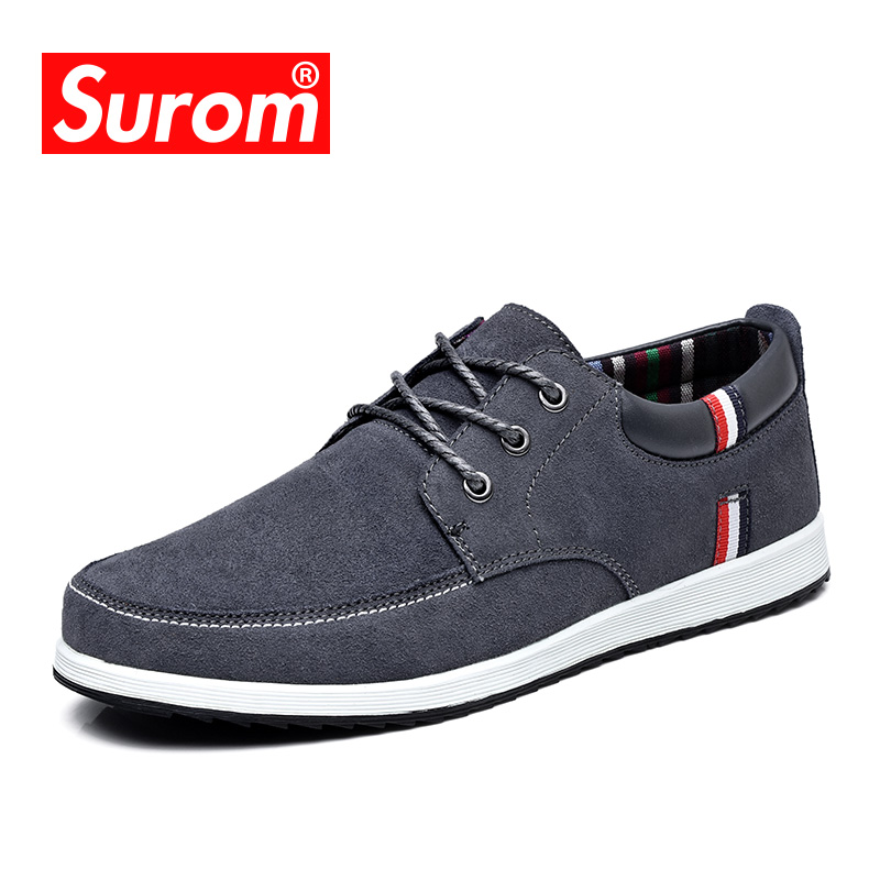 SUROM 2018 Men's Leather Casual s