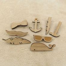 Wooden Tie Clips for Men