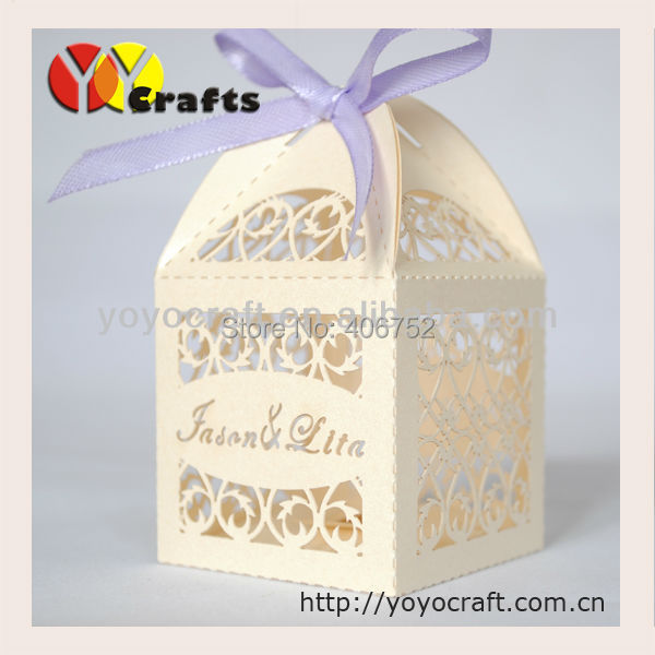 Свадьба партия поставки рождения коробка свадебной лазерная резка свадьба сладкий коробка 50 шт.