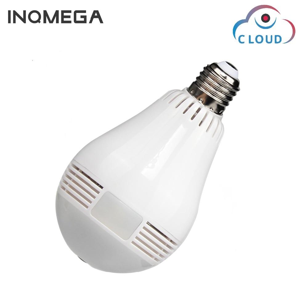 INQMEGA 960P Cloud font b Wireless b font IP Camera Bulb Light Panoramic Fisheye Home Security