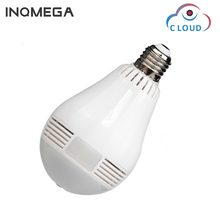 INQMEGA 960P Cloud Wireless IP Camera Bulb Light Panoramic Fisheye Home Security Surveillance 360 Degree 3D VR k CCTV WIFI Cam(China)