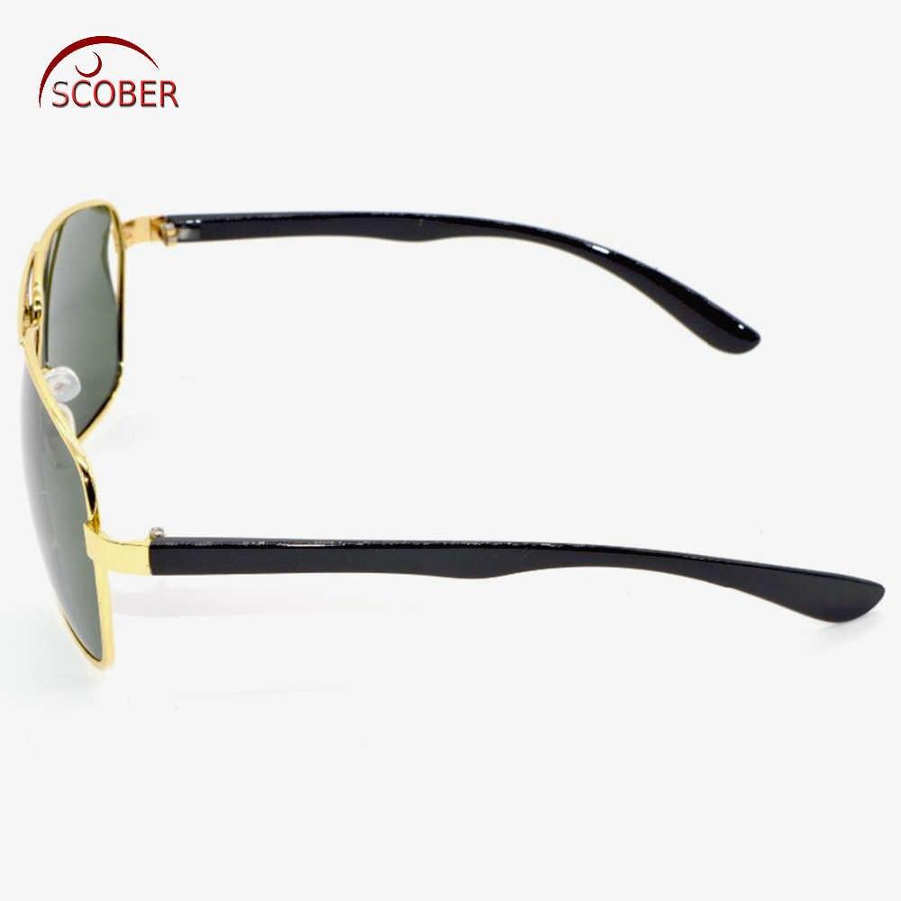 = Scober = TR90 нога памяти поляризационные Для мужчин Солнцезащитные очки для женщин Двойной Мост Золотые Рамки Polaroid поляризационные может пользовательские близорукость поляризованные линзы