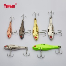 YAPADA VIB 307 Long Knife 10g/15g/20g/25g Treble HOOK 50mm/57mm/65mm/68mm Metal VIB Multicolor Fishing Lures