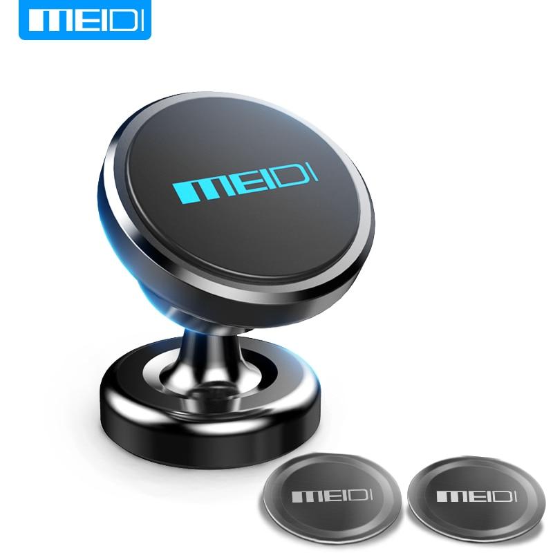 MEIDI Magnético Suporte Do Telefone Do Carro 360 Rotação GPS Do Telefone Móvel de Metal montar Carro Titular Suporte para iPhone 6 plus Samsung S6 xiaomi
