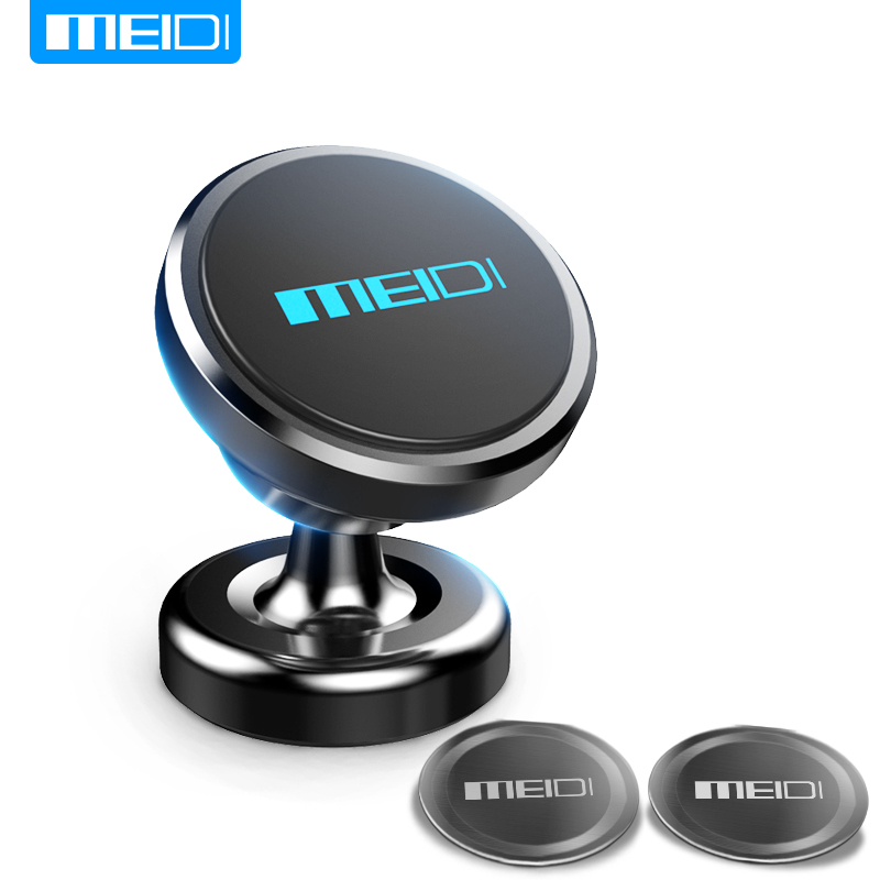 MEIDI Magnetic Car Phone Bracket 360 Rotation GPS Mobile Phone Metal mount Car Holder Stand for iPhone 6 plus Samsung S6 xiaomi baseus 360 degree rotation magnetic car mount holder silver