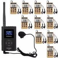RETEKESS гид системы беспроводной голос трансмиссия для тренировки встречи 1 Ручной FM передатчик + 10 радио приемник