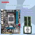 Новое поступление официальный HUANAN X79 материнская плата Процессор памяти Комплект X79 LGA2011 Материнская плата Intel Ксеон E5 2620 V2 Оперативная памя...