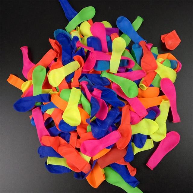 100 pçs/lote decoração de aniversário ballons festa de casamento decoração festa de criança suppliey cor aleatória chá de fraldas látex balões de água