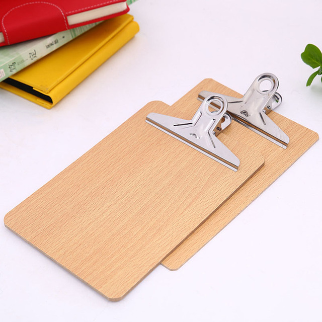 1pc a4 wooden clipboard file folder stationary board hard board
