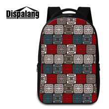 Dispalang Large Capacity Women Backpack Striped lattice School Bags For Teenagers Men Travel Bags Girls Laptop