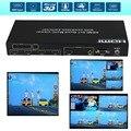 4X1 4 Порта Переключатель HDMI Деление Изображения 4 1 Quad Multi-Viewer бесшовные switcher Универсальная PIP просмотра Конвертер + ИК-Пульт Дистанционного RS232