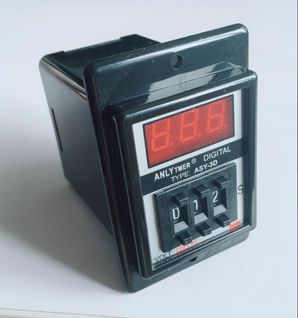 digits programmable timer delay relay ASY-3D Delay Timer Time Relay 1-999S 8PIN DC12V DC24V AC110V AC220V zys1 asy 3d ac220v power on delay timer time relay 1 999 seconds