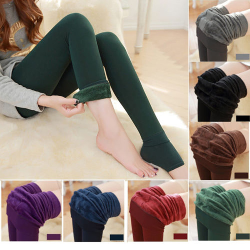 Fashion Women Winter Thick Warm Fleece Lined Thermal Stretchy Slim Skinny Tights Sexy Slim Tights