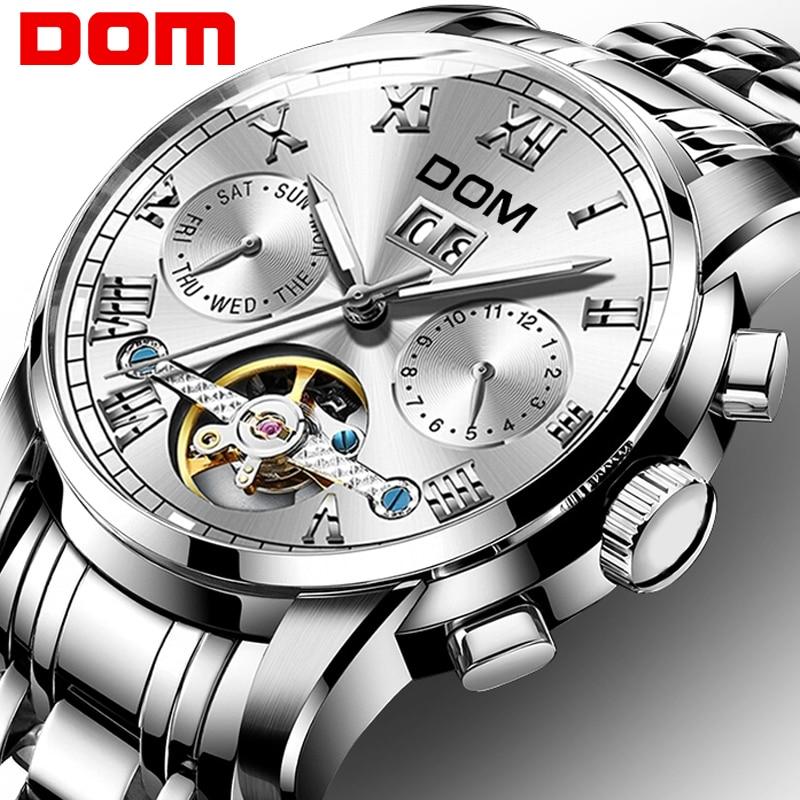 Mechanical Watches Sport DOM Watch Men Waterproof Clock Mens Brand Luxury Fashion Wristwatch Relogio Masculino M