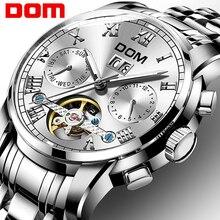 Механические часы спортивные DOM часы мужские водостойкие часы мужские s брендовые Роскошные модные наручные часы Relogio Masculino M-75D-7M